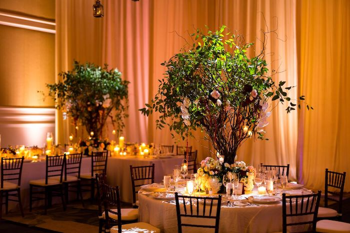20-Lisa Stoner Events- Ritz Carlton Orlando – Orlando luxury wedding planner – Ritz Carlton Orlando wedding-centerpieces with trees.jpg