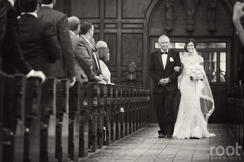 Lisa Stoner + Knowles Chapel Wedding + Bride Processional + .jpg