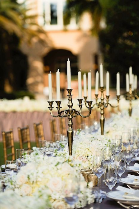 Lisa Stoner Events – Lisa Stoner Wedding - Orlando luxury wedding planner- Ritz Carlton Orlando - Ritz Carlton Orlando outdoor reception -gold candlesticks.jpg