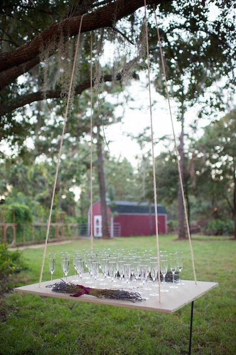 Lisa Stoner Events – Orlando LGBTQ Wedding Planner – Luxury Same Sex Weddings – Ritz Carlton Orlando - Whisper Creek Farm - hanging champagne bar.jpg